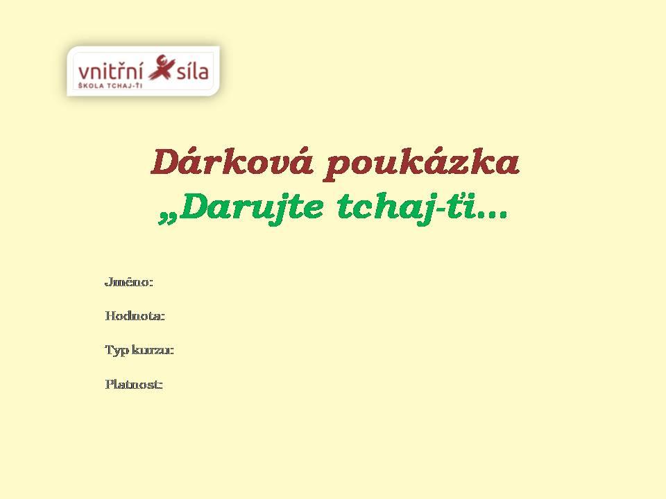 Dárková poukázka - upoutávka časopis 1
