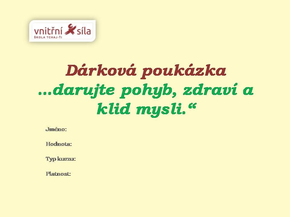 Dárková poukázka - upoutávka časopis 2